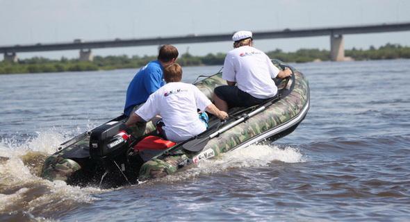 лодка санмарин с надувным дном